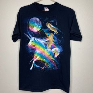 Kittens and Unicorn in Space TShirt